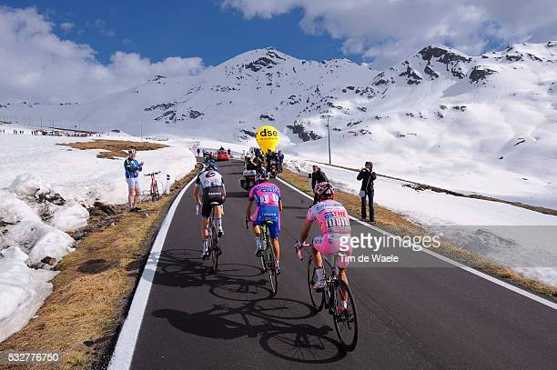 95th Tour of Italy 2012 / Stage 20 Illustration Illustratie / STELVIO / Ryder Hesjedal / Michele Scarponi / Joaquim Rodriguez Oliver Pink Jersey /...