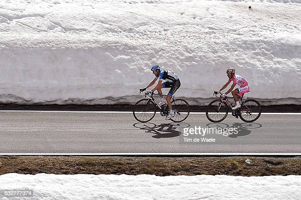 95th Tour of Italy 2012 / Stage 20 Ryder Hesjedal / Joaquim Rodriguez Oliver Pink Jersey / STELVIO / Snow Neige Sneeuw / Caldes / Val Di sole Passo...