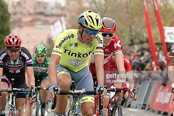 96th Volta a Catalunya/ Stage 5 CONTADOR Alberto / BARDET Romain / Arrival / Sprint / Podium/ Celebration Joie Vreugde/ Illustration Illustratie /...
