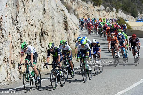 96th Volta Catalunya 2016 / Stage 6 QUINTANA Nairo Alexander White Leader Jersey Illustration Illustratie / Peleton Peloton / Landscape Paysage...