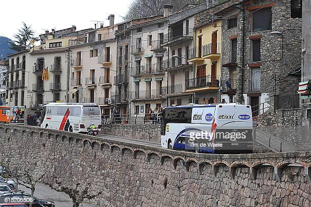 96th Volta Cataluya 2016/ Stage 5 Illustration Illustratie / Landscape Paysage Landschap / Etixx QS/ Bus/ City Village/ Rialp Valls / Tour of...