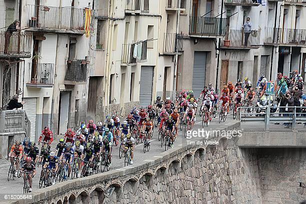 96th Volta Cataluya 2016/ Stage 5 Illustration Illustratie / Landscape Paysage Landschap / Peleton Peloton Rialp Valls / Tour of Catalunya/ Ronde...