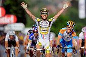 97th Tour de France 2010 / Stage 6 Arrival / CAVENDISH Mark / FARRAR Tyler / Celebration Joie Vreugde / Montargis Gueugnon / Ronde van Frankrijk /...