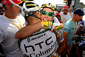 97th Tour de France 2010 / Stage 6 Arrival / CAVENDISH Mark / Maxime MONFORT / Celebration Joie Vreugde / Montargis Gueugnon / Ronde van Frankrijk /...