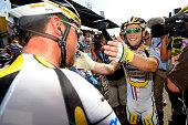 97th Tour de France 2010 / Stage 6 Arrival / CAVENDISH Mark / Bernhard EISEL / Celebration Joie Vreugde / Montargis Gueugnon / Ronde van Frankrijk /...