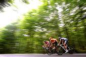 97th Tour de France 2010 / Stage 6 PERGET Mathieu / LANG Sebastian / PEREZ MORENO Ruben / Illustration Illustratie / Montargis Gueugnon / Ronde van...