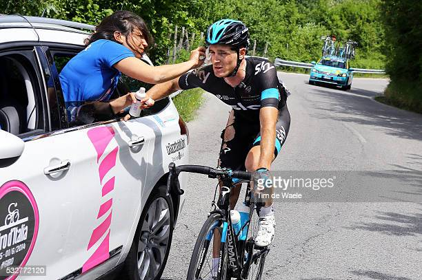 97th Tour of Italy 2014 / Stage 11 PUCCIO Salvatore Injury Blessure Gewond Crash Chute Val / Dokter Doctor Medic / Collecchio Savona / Giro Tour...