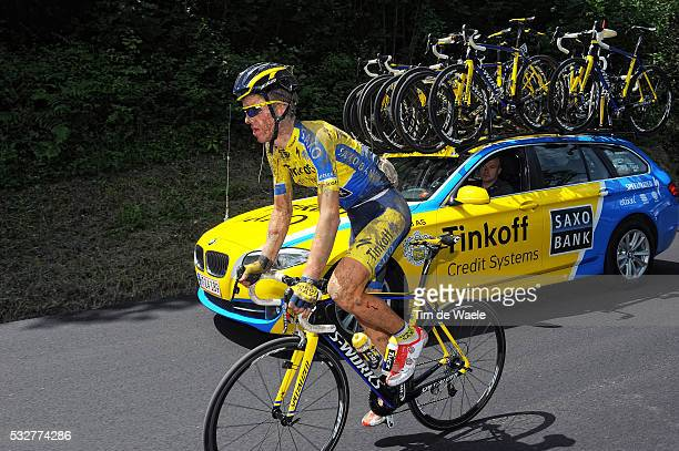 97th Tour of Italy 2014 / Stage 11 SORENSEN Chris Anker / Crash Chute Val Injury Blessure Gewond / Mud Boue Modder / Collecchio Savona / Giro Tour...