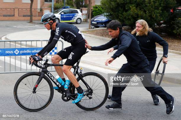 97th Volta Ciclista a Catalunya 2017 / Stage 5 Christopher FROOME / Mechanical Problem/ Valls Lo PortTortosa 1014m / Tour of Catalunya /