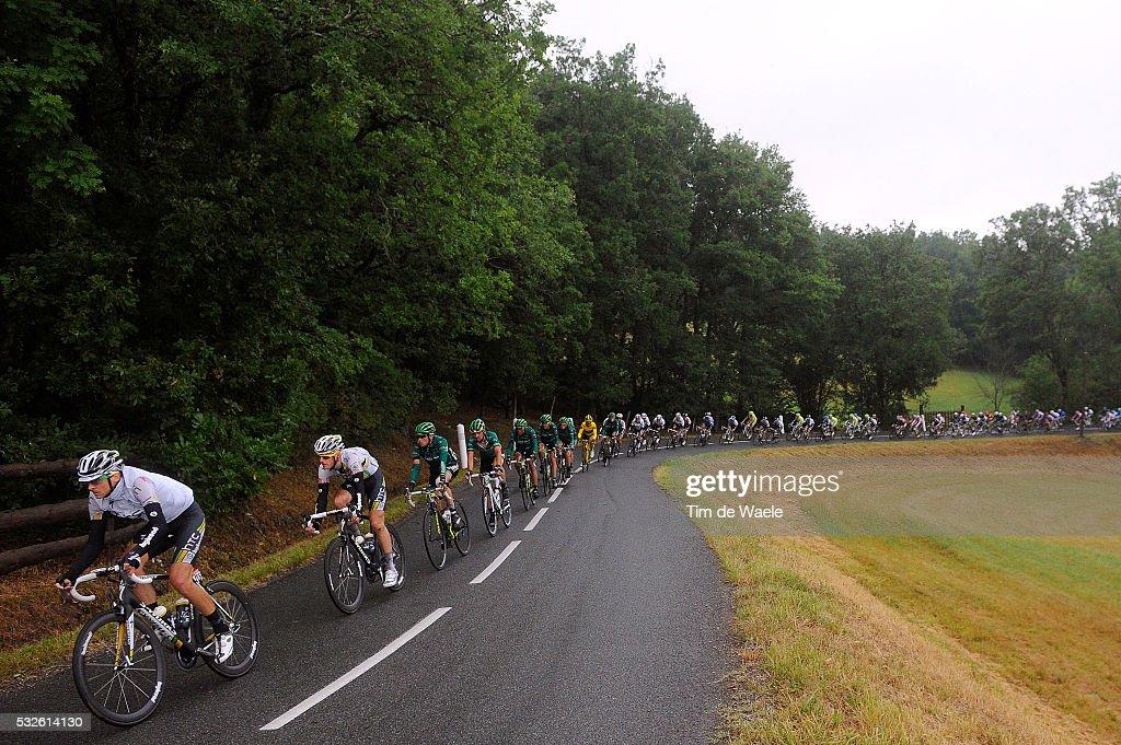 98th Tour de France 2011 / Stage 11 Illustration Illustratie / Peleton Peloton / Landscape Paysage Landschap / PATE Danny / BAK Lars / BlayeLesMines...