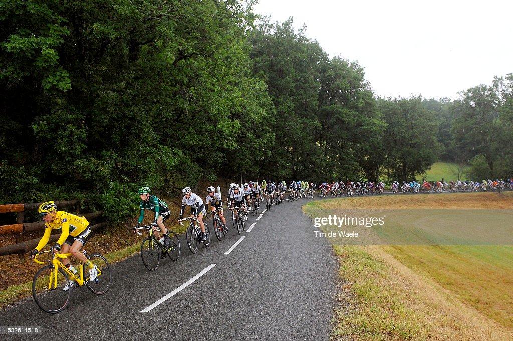 98th Tour de France 2011 / Stage 11 Illustration Illustratie / Peleton Peloton / Landscape Paysage Landschap / VOECKLER Thomas Yellow Jersey /...