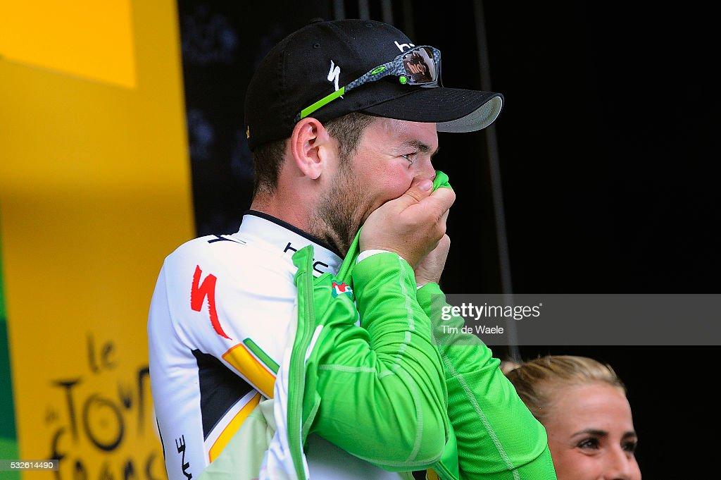 98th Tour de France 2011 / Stage 11 Podium / CAVENDISH Mark Green Jersey / Celebration Joie Vreugde / BlayeLesMines Lavaur / Ronde van Frankrijk /...