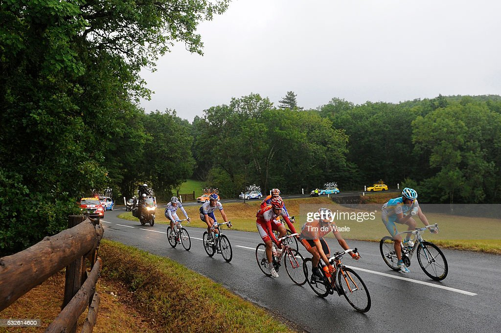 98th Tour de France 2011 / Stage 11 VALENTIN Tristan / DELAGE Mickael / ENGOULVENT Jimmy / PEREZ MORENO Ruben / GRIVKO Andriy / BOOM Lars /...