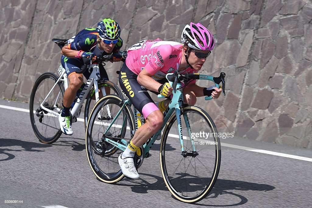 99th Tour of Italy 2016 / Stage 16 Alejandro VALVERDE (ESP)/ Steven KRUIJSWIJK (NED) Pink Leader Jersey / Bressanone-Brixen - Andalo 1024m (132km)/ / Giro /