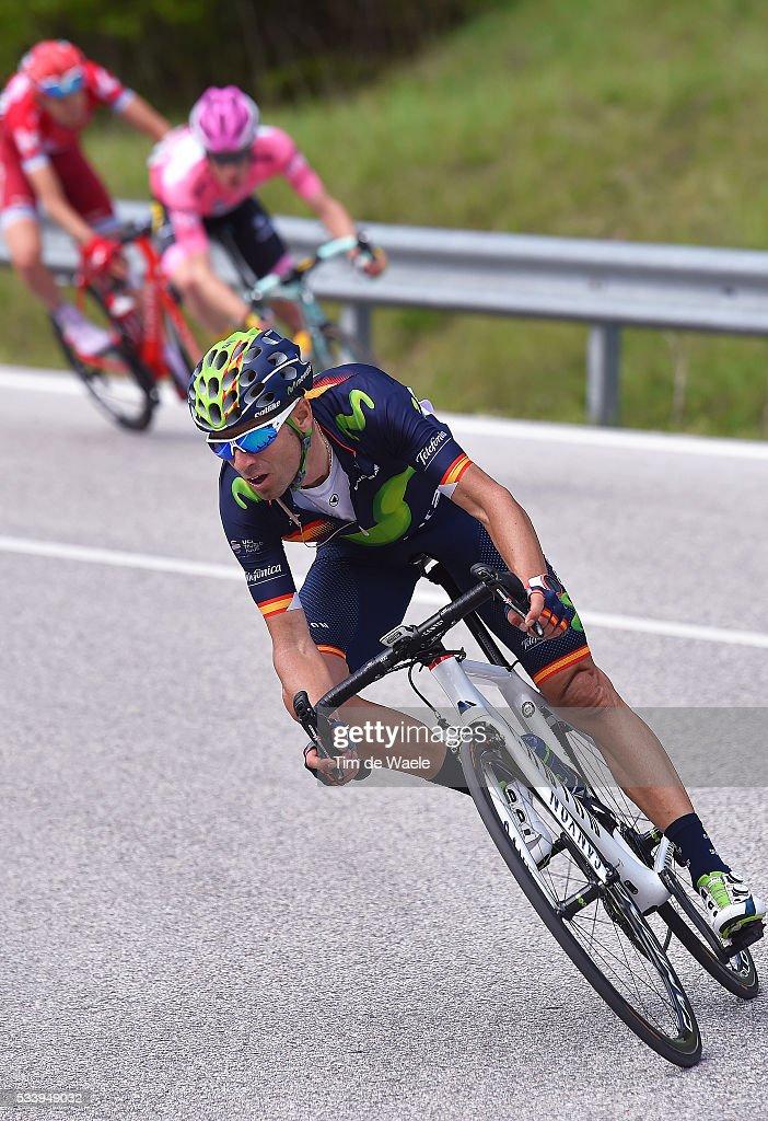 99th Tour of Italy 2016 / Stage 16 Alejandro VALVERDE (ESP)/ Steven KRUIJSWIJK (NED) Pink Leader Jersey / Ilnur ZAKARIN (RUS)/ Bressanone / Brixen - Andalo 1024m Giro /