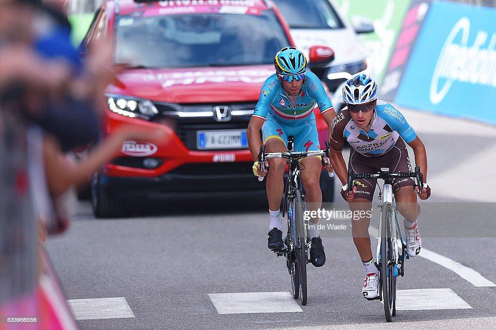 99th Tour of Italy 2016 / Stage 16 Arrival / Domenico POZZOVIVO (ITA)/ Vincenzo NIBALI (ITA)/ Bressanone / Brixen - Andalo 1024m (132km)/ Giro /