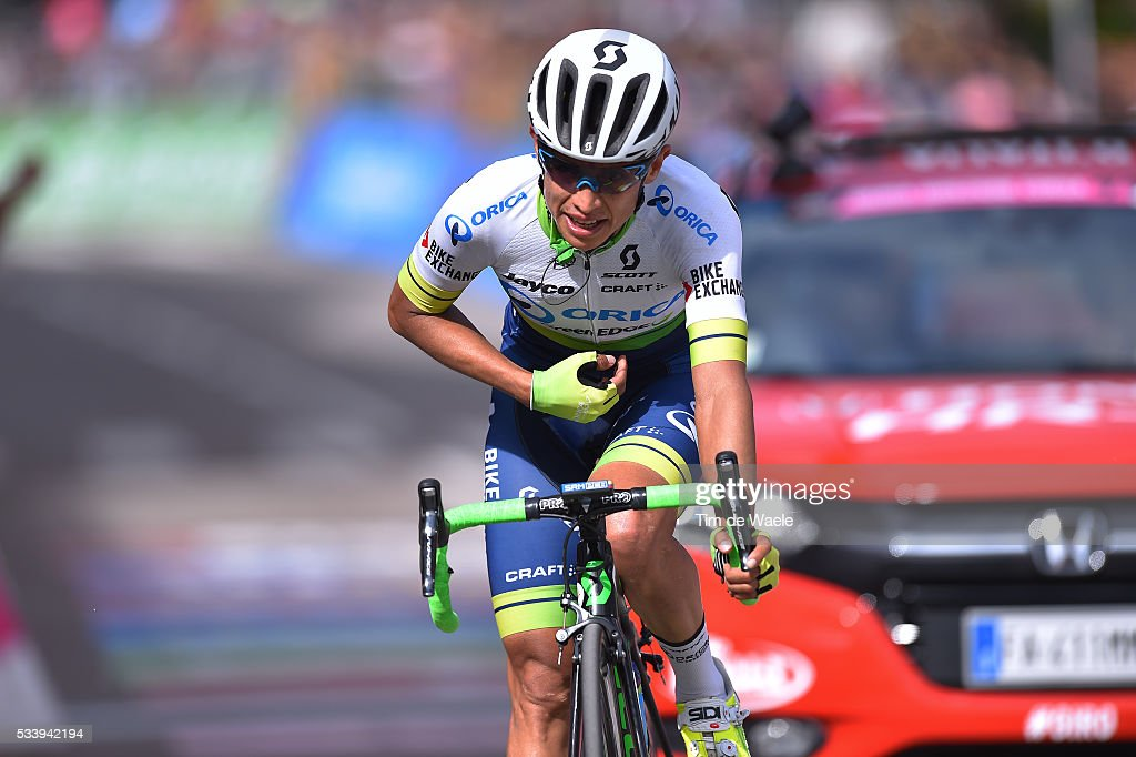 99th Tour of Italy 2016 / Stage 16 Arrival / Johan Esteban CHAVES (COL)/ Bressanone-Brixen - Andalo 1024m (132km)/ / Giro /