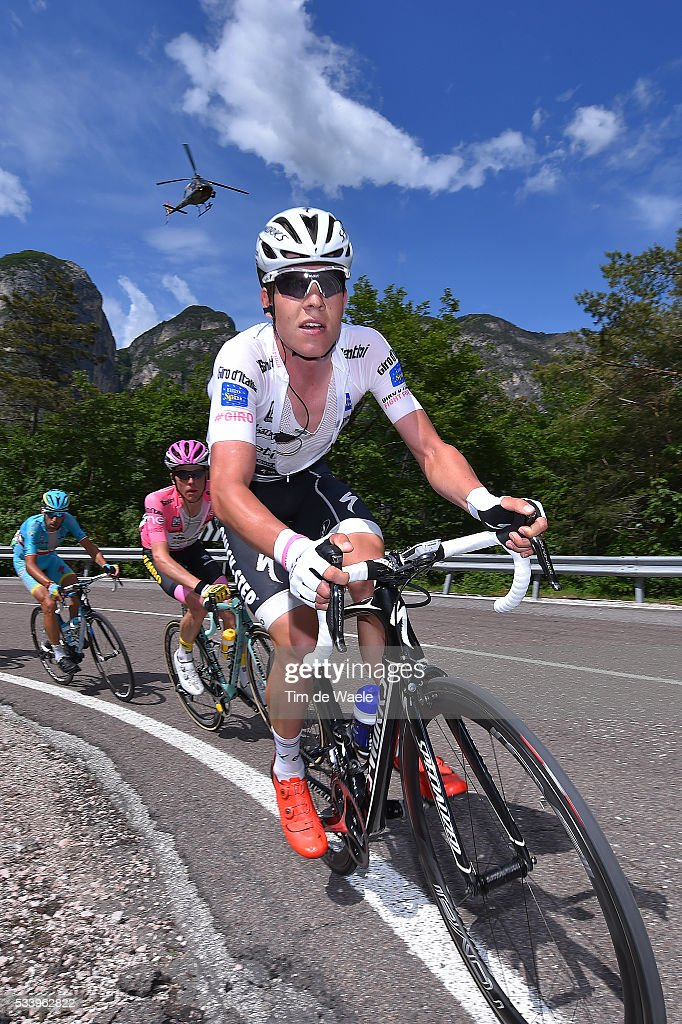 99th Tour of Italy 2016 / Stage 16 Bob JUNGELS (LUX) Best White Young Jersey / Steven KRUIJSWIJK (NED) Pink Leader Jersey / Vincenzo NIBALI (ITA)/ Bressanone / Brixen - Andalo 1024m (132km)/ Giro /