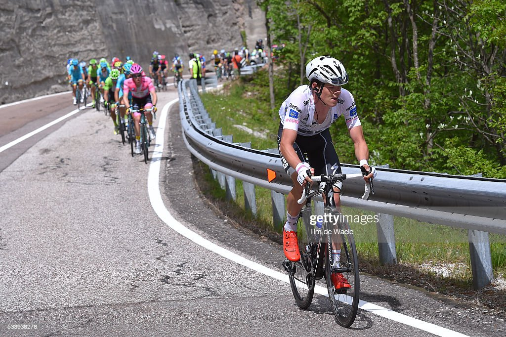 99th Tour of Italy 2016 / Stage 16 Bob JUNGELS (LUX) White Best Young Jersey / Steven KRUIJSWIJK (NED) Pink Leader Jersey / Bressanone-Brixen - Andalo 1024m (132km)/ / Giro /