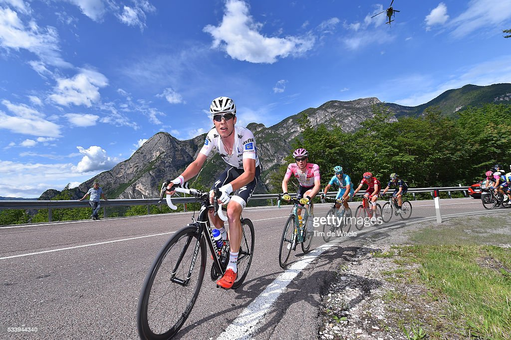 99th Tour of Italy 2016 / Stage 16 Bob JUNGELS (LUX) White Best Young Jersey / Steven KRUIJSWIJK (NED) Pink Leader Jersey / Vincenzo NIBALI (ITA)/ Ilnur ZAKARIN (RUS)/ Alejandro VALVERDE (ESP)/ Bressanone-Brixen - Andalo 1024m (132km)/ / Giro /