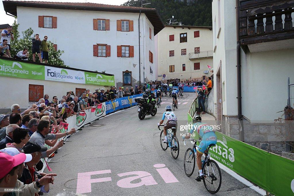 99th Tour of Italy 2016 / Stage 16 Domenico POZZOVIVO (ITA)/ Vincenzo NIBALI (ITA)/ Illustration / Fai Della Paganella (994m) Mountains / Landscape / Bressanone / Brixen - Andalo 1024m (132km)/ Giro /