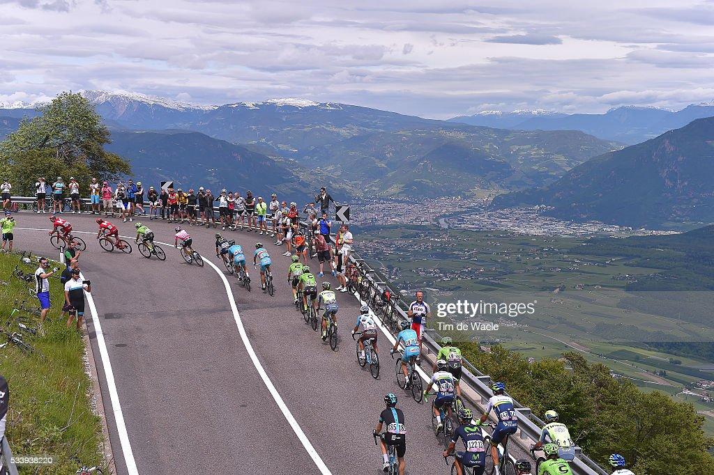 99th Tour of Italy 2016 / Stage 16 Illustration / Peloton / Landscape / Mountains / Passo Della Mendola 1363m / Bressanone-Brixen - Andalo 1024m (132km)/ / Giro /
