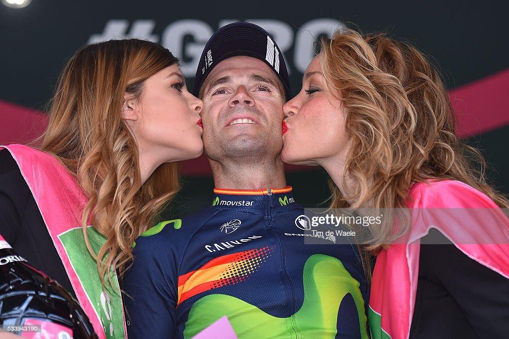 99th Tour of Italy 2016 / Stage 16 Podium / Alejandro VALVERDE (ESP)/ Celebration / Bressanone-Brixen - Andalo 1024m (132km)/ / Giro /