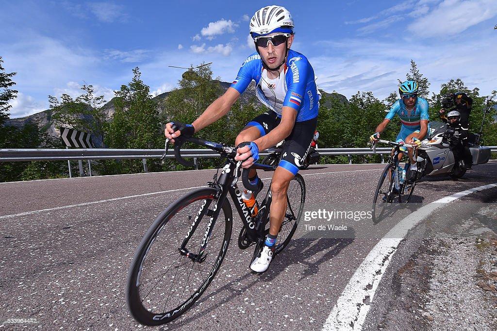 99th Tour of Italy 2016 / Stage 16 Sergey FIRSANOV (RUS)/ Vincenzo NIBALI (ITA)/ Bressanone / Brixen - Andalo 1024m (132km)/ Giro /