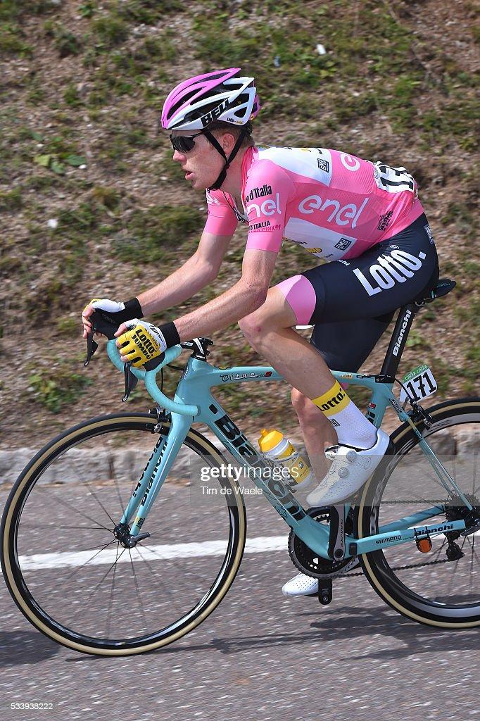 99th Tour of Italy 2016 / Stage 16 Steven KRUIJSWIJK (NED) Pink Leader Jersey / Bressanone-Brixen - Andalo 1024m (132km)/ / Giro /