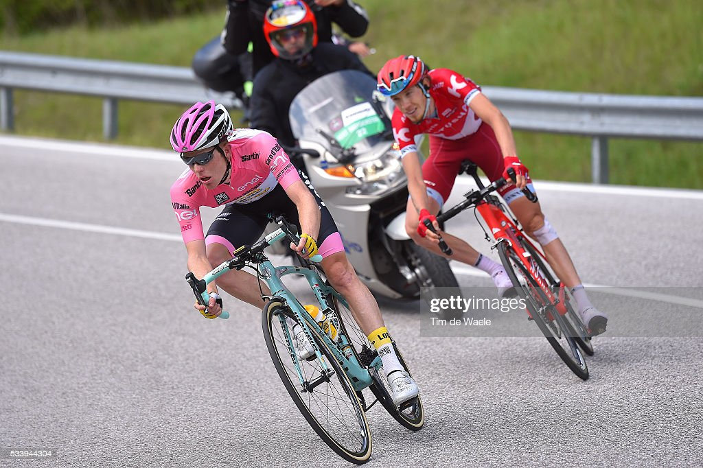 99th Tour of Italy 2016 / Stage 16 Steven KRUIJSWIJK (NED) Pink Leader Jersey / Ilnur ZAKARIN (RUS)/ Bressanone-Brixen - Andalo 1024m (132km)/ / Giro /