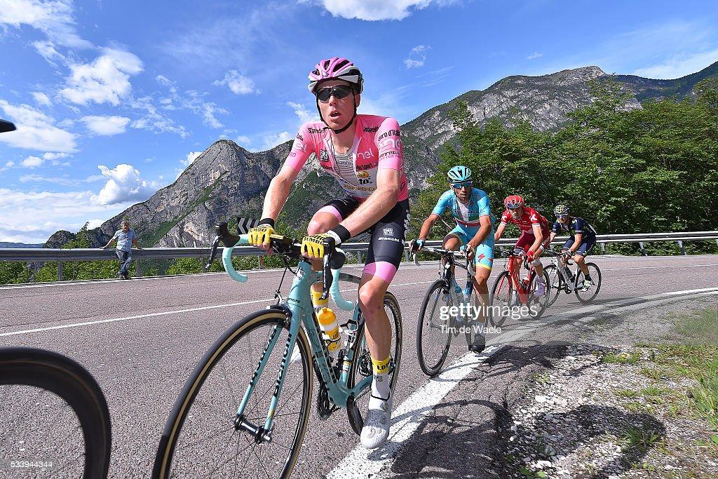 99th Tour of Italy 2016 / Stage 16 Steven KRUIJSWIJK (NED) Pink Leader Jersey / Vincenzo NIBALI (ITA)/ Ilnur ZAKARIN (RUS)/ Alejandro VALVERDE (ESP)/ Bressanone-Brixen - Andalo 1024m (132km)/ / Giro /