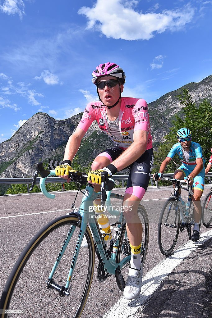 99th Tour of Italy 2016 / Stage 16 Steven KRUIJSWIJK (NED) Pink Leader Jersey / Vincenzo NIBALI (ITA)/ Bressanone / Brixen - Andalo 1024m (132km)/ Giro /