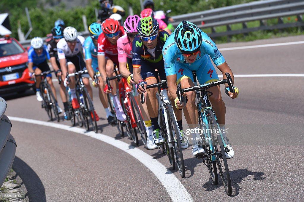 99th Tour of Italy 2016 / Stage 16 Tanel KANGERT (EST)/ Alejandro VALVERDE (ESP)/ Bressanone-Brixen - Andalo 1024m (132km)/ / Giro /