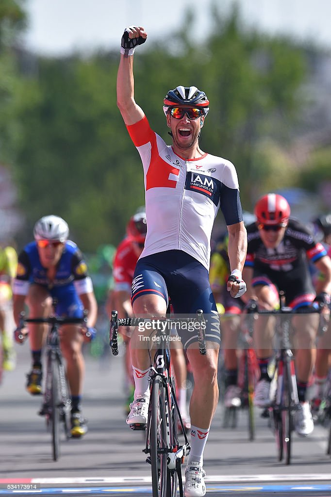 99th Tour of Italy 2016 / Stage 17 Arrival / Roger KLUGE (GER) Celebration / Molveno - Cassano D'Adda (196km)/ Giro /