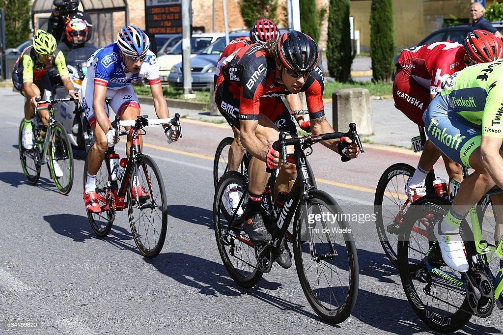99th Tour of Italy 2016 / Stage 17 Daniel OSS (ITA)/ Ignatas KONOVALOVAS (LTU)/ Eugert ZHUPA (ALB)/ Molveno - Cassano D'Adda (196km)/ Giro /