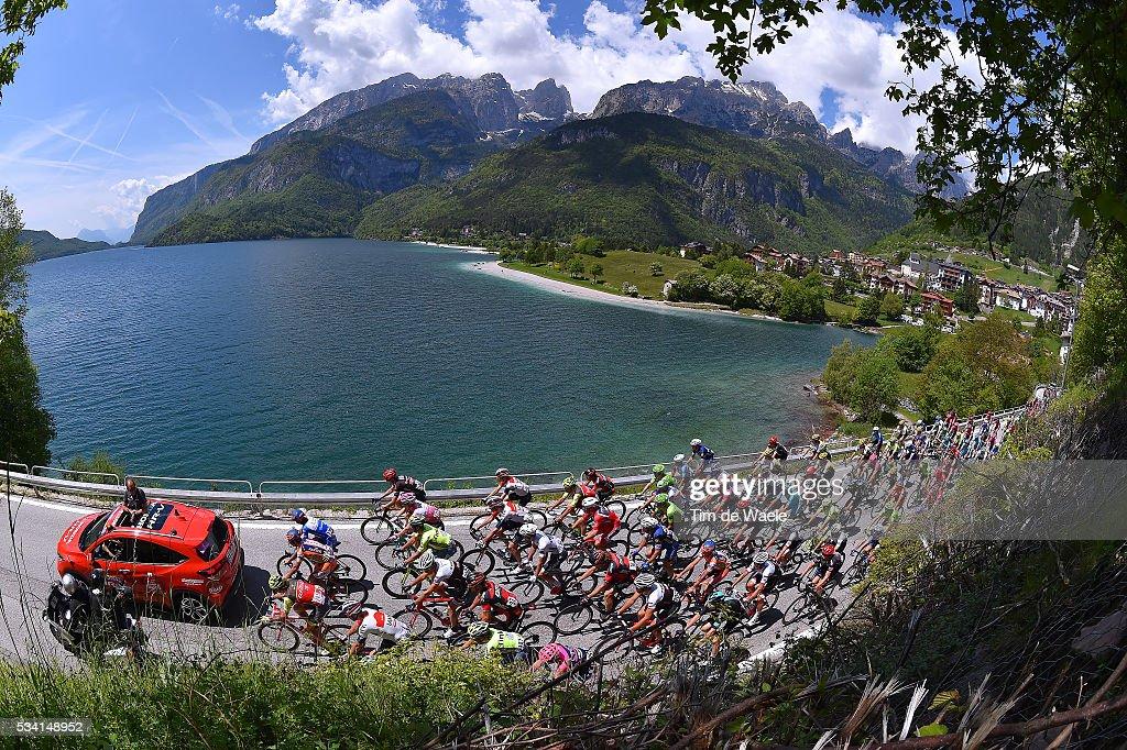 99th Tour of Italy 2016 / Stage 17 Illustration / Landscape / Peloton / Lake / Molveno City / Molveno - Cassano d'Adda (196km)/ / Giro /