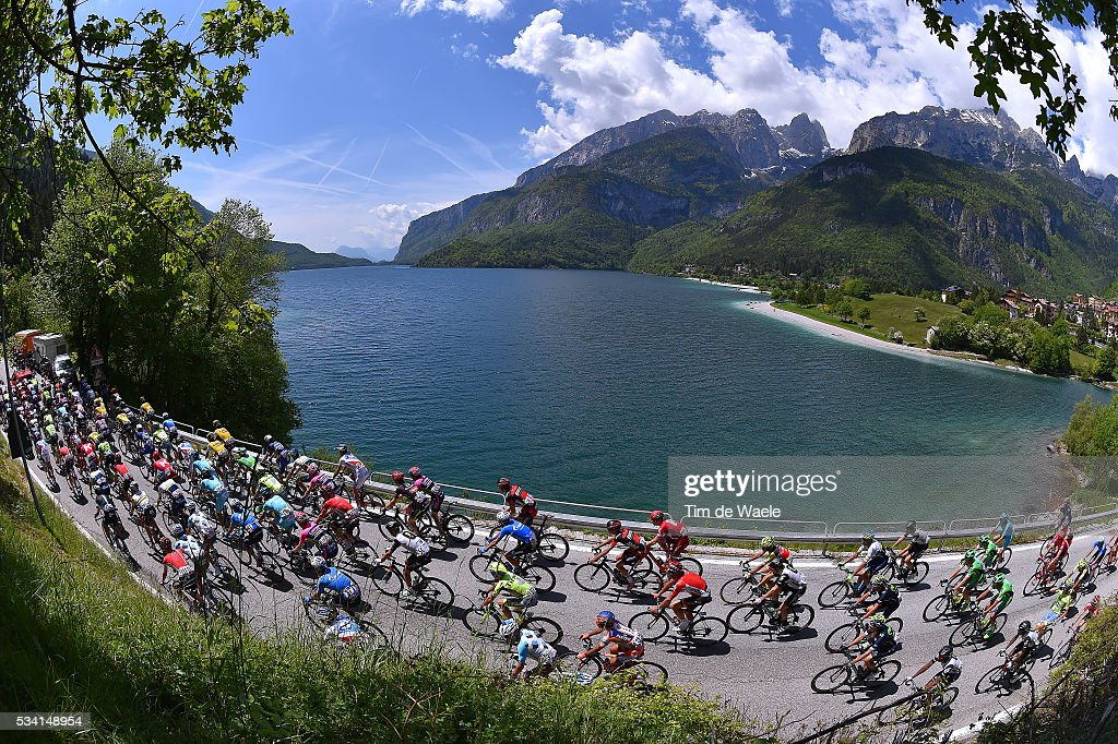 99th Tour of Italy 2016 / Stage 17 Illustration / Landscape / Peloton / Lake / Molveno City / Molveno - Cassano d'Adda (196km)/ / Giro /