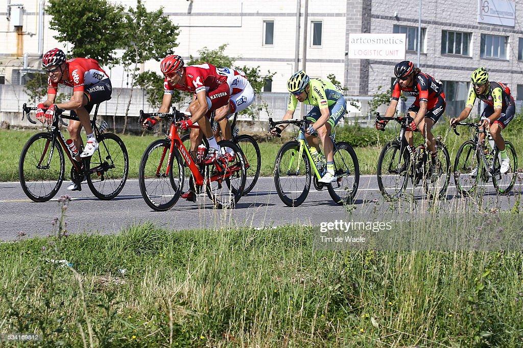 99th Tour of Italy 2016 / Stage 17 Maxim BELKOV (RUS)/ Lars Ytting BAK (DEN)/ Ignatas KONOVALOVAS (LTU)/ Daniel OSS (ITA)/ Pavel BRUTT (RUS)/ Eugert ZHUPA (ALB)/ Molveno - Cassano D'Adda (196km)/ Giro /