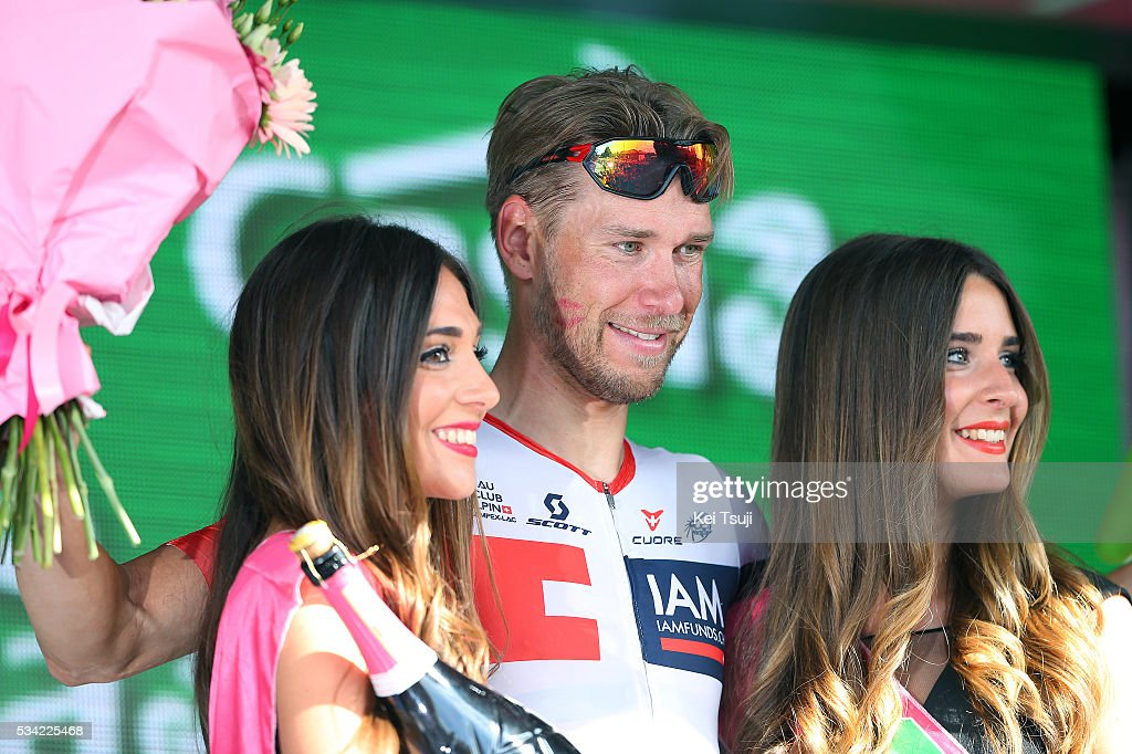 99th Tour of Italy 2016 / Stage 17 Podium / Roger KLUGE (GER)/ Celebration / Molveno - Cassano D'Adda (196km)/ Giro /