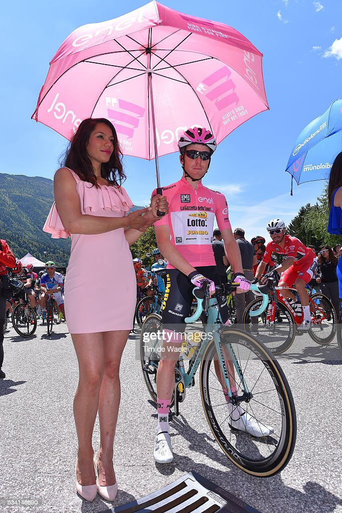 99th Tour of Italy 2016 / Stage 17 Start / Steven KRUIJSWIJK (NED) Pink Leader Jersey / Miss / Molveno - Cassano d'Adda (196km)/ / Giro /