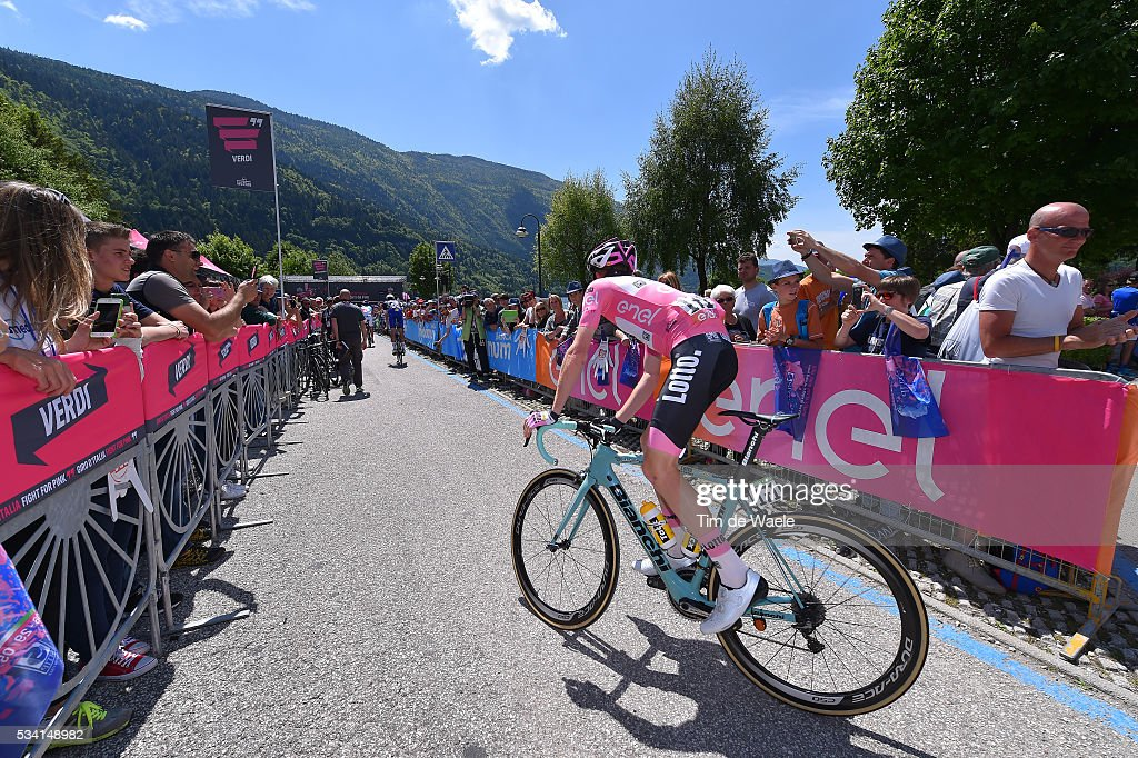 99th Tour of Italy 2016 / Stage 17 Start / Steven KRUIJSWIJK (NED) Pink Leader Jersey / Molveno - Cassano d'Adda (196km)/ / Giro /