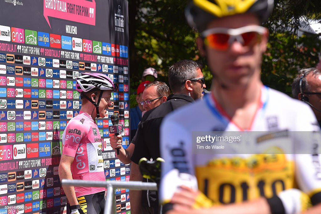 99th Tour of Italy 2016 / Stage 17 Start / Steven KRUIJSWIJK (NED) Pink Leader Jersey / press / interview / Molveno - Cassano d'Adda (196km)/ / Giro /