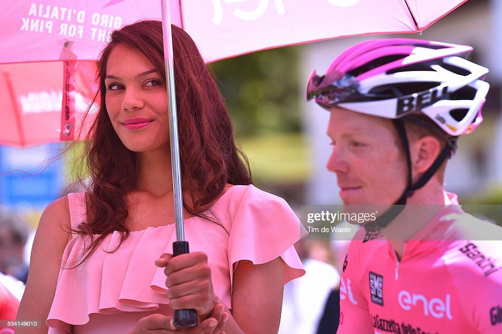 99th Tour of Italy 2016 / Stage 17 Start / Steven KRUIJSWIJK (NED) Pink Leader Jersey / Miss / Molveno - Cassano d'Adda (196km)/ / Giro /