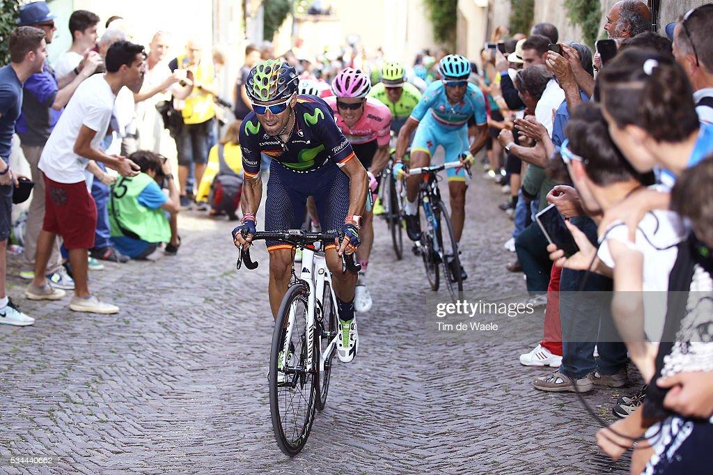 99th Tour of Italy 2016 / Stage 18 Alejandro VALVERDE (ESP)/ Steven KRUIJSWIJK (NED) Pink Leader Jersey / Vincenzo NIBALI (ITA)/ Muggio - Pinerolo (240Km)/ Giro /