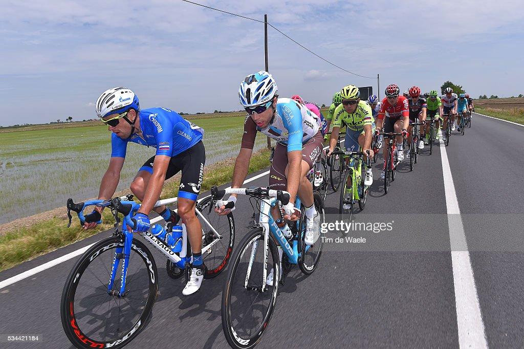 99th Tour of Italy 2016 / Stage 18 Axel DOMONT (FRA)/ Andrey SOLOMENNIKOV (RUS)/ Muggio - Pinerolo (240km)/ / Giro /