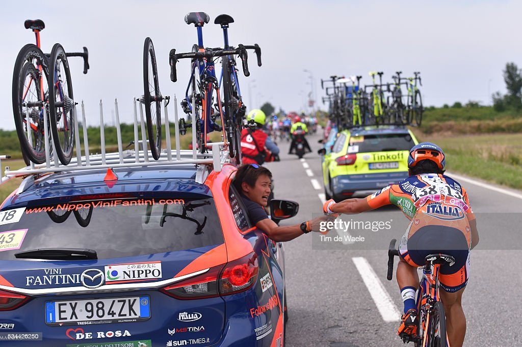 99th Tour of Italy 2016 / Stage 18 Genki YAMAMOTO (JPN)/ Feed Zone / Team NIPPO - VINI FANTINI (ITA)/ Car / Muggio - Pinerolo (240km)/ / Giro /