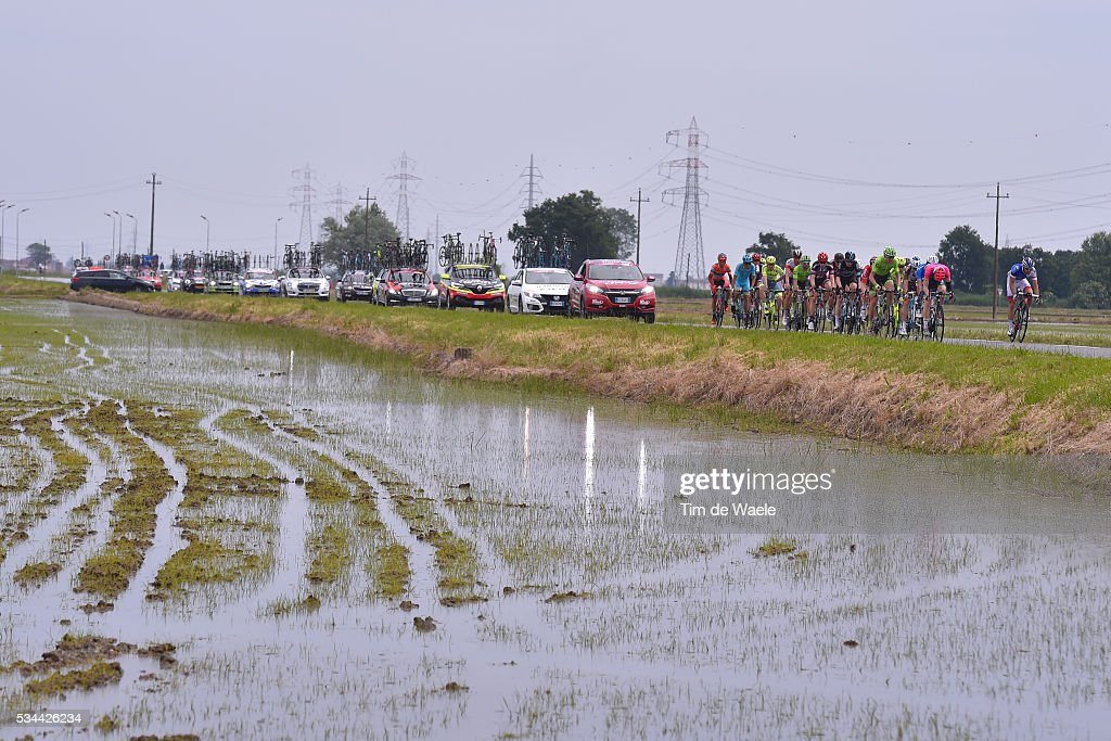 99th Tour of Italy 2016 / Stage 18 Illustration / Landscape / Peloton / Rice fields / Muggio - Pinerolo (240km)/ / Giro /
