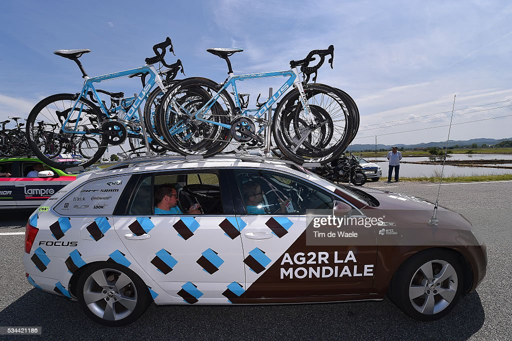 99th Tour of Italy 2016 / Stage 18 Illustration / Team AG2R LA MONDIALE (FRA)/ Car / Focus Bike / Muggio - Pinerolo (240km)/ / Giro /