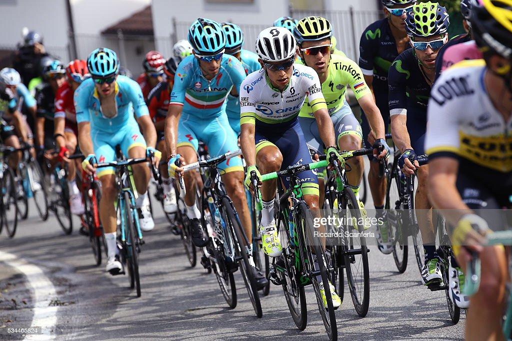 99th Tour of Italy 2016 / Stage 18 Johan Esteban CHAVES RUBIO (COL)/ Rafal MAJKA (POL)/ Vincenzo NIBALI (ITA)/ Muggio - Pinerolo (240km)/ Giro /