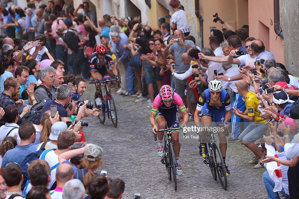 99th Tour of Italy 2016 / Stage 18 Matteo TRENTIN (ITA)/ Sacha MODOLO (ITA)/ Nikias ARNDT (GER)/ Muggio - Pinerolo (240Km)/ Giro /